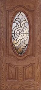 Atherton 3/4 Oval Fiberglass Door & Feather River Doors | Atherton