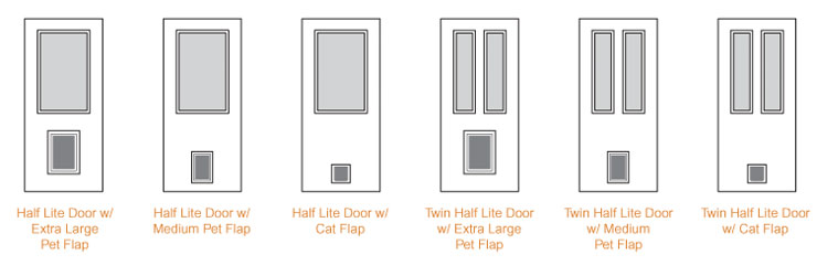 Exterior Door With Pet Door. Pet Door Collection  New SEE OPTIONS Feather River Doors